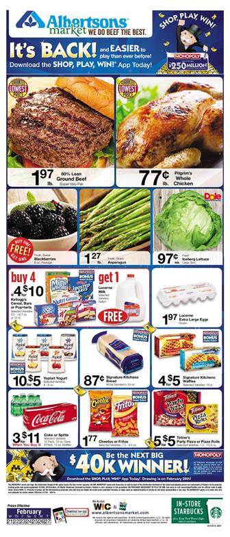 Albertsons Weekly Ad Deals February 21 27 2018