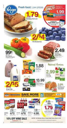 Kroger Weekly Ad Deals February 7 13 2018