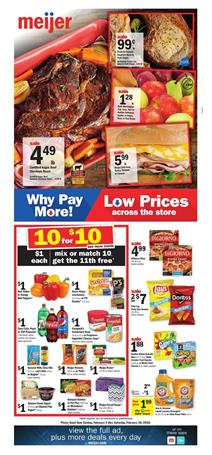 Meijer Weekly Ad Deals February 4 - 10, 2018