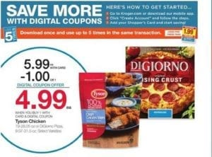 Kroger Ad DiGiorno Pizza Digital Coupon Deal and More