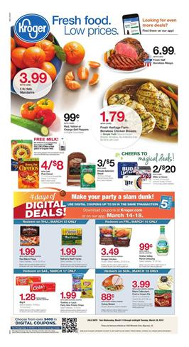 Kroger Weekly Ad Deals March 14 20 2018