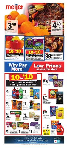 Meijer Weekly Ad Mix Or Match Get 11th Free