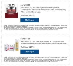 Olay Product Coupons 2