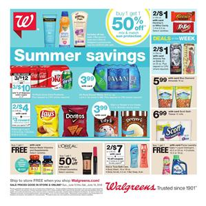 Walgreens Ad Summer Savings Jun 10 16 2018