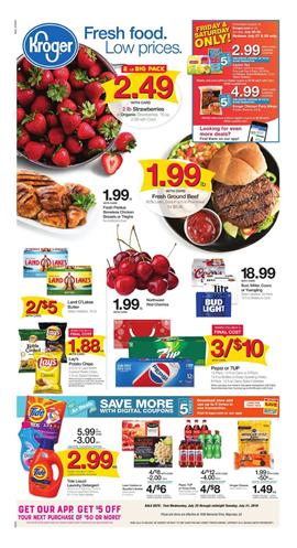 Kroger Weekly Ad Deals Jul 25 31 2018