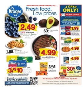 Kroger Weekly Ad Deals Jul 5 10 2018