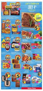 Winn Dixie Ad 4th of July One Day Sale 2018