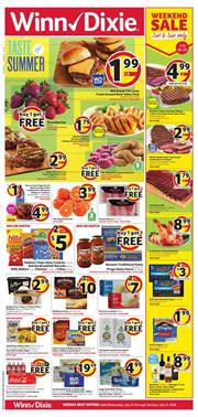 Winn Dixie Weekly Ad Deals Jul 25 31 2018