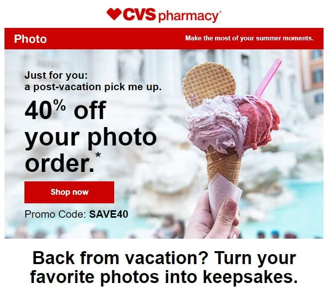 CVS Photo 40 off Deal