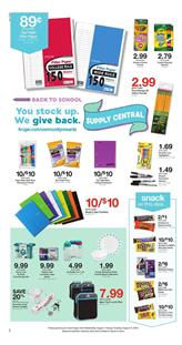 Kroger Weekly Ad Back to School Sale Aug 1 7