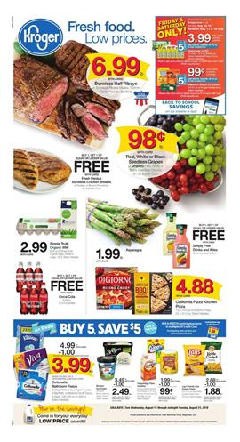 Kroger Weekly Ad Deals Aug 15 21 2018