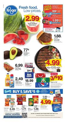 Kroger Weekly Ad Deals Aug 8 14 2018