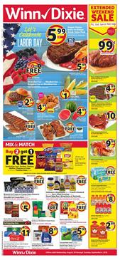 Winn Dixie Ad Labor Day Sale Aug 29 Sep 4 2018