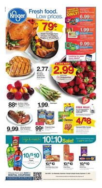 Kroger Weekly Ad Deals Sep 5 11 2018