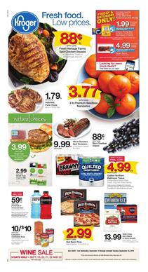 Kroger Weekly Ad Mix and Match Sale Sep 19 25 2018