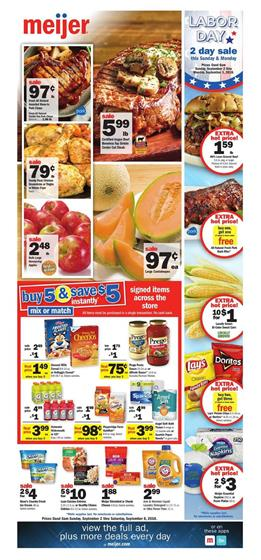 Meijer Weekly Ad Deals Sep 2 8 2018