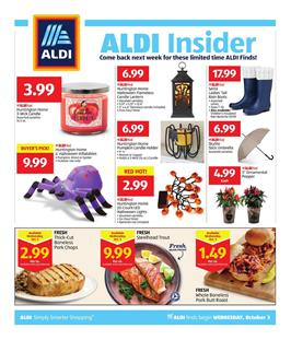 Aldi Insider Ad Deals Oct 3 9 2018