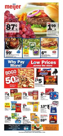 Meijer Weekly Ad Grocery Sale Oct 21 27 2018