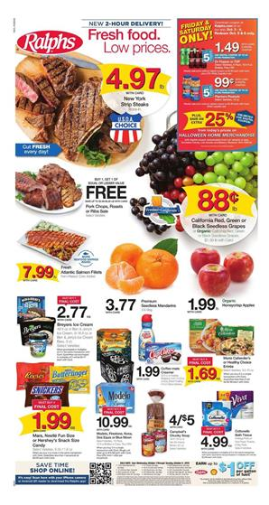 Ralphs Weekly Ad Deals Oct 3 9 2018