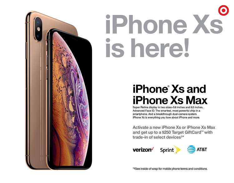 Target Ad iPhone Xs and Xs Max 2018