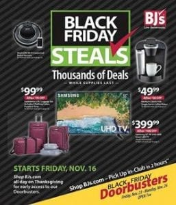 BJs Wholesale Black Friday Ad Deals 2018