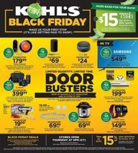 kohls black friday ad 2018