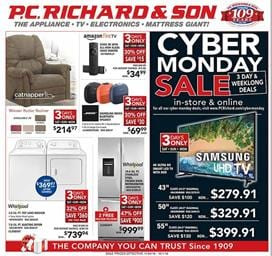 P.C. Richard and Son Cyber Monday Ad