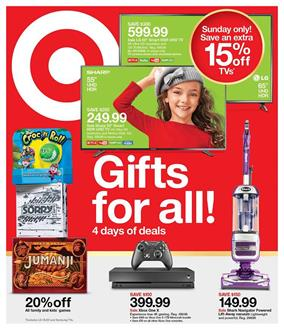 Target Ad Gifts TVs and Entertainment Nov 18