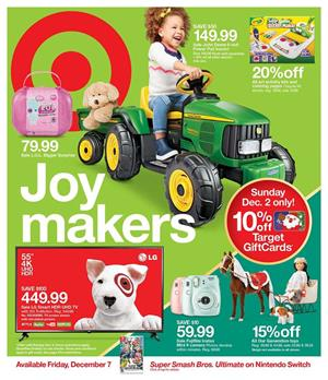 Target Weekly Ad Holiday Toy Sale Dec 2 8 2018