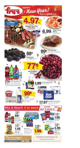 Frys Weekly Ad New Year Sale December 26 2018