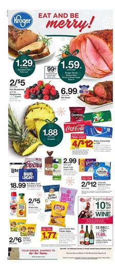 Kroger Weekly Ad Holiday Foods Dec 12 18 2018