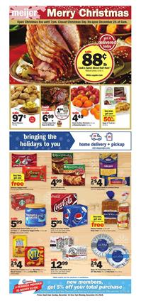 Meijer Weekly Ad Festive Food Christmas Sale Dec 16 22 2018
