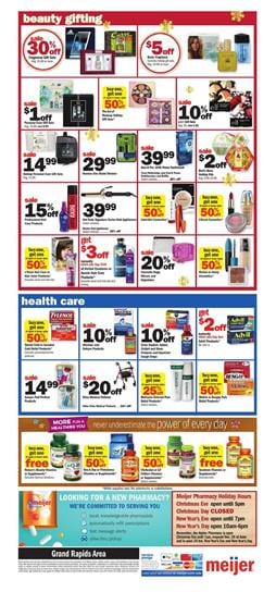 Meijer Weekly Ad Holiday Gifts Dec 16 24 2018