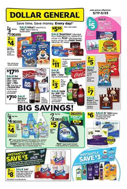 Dollar General Ad Big Savings Mar 17