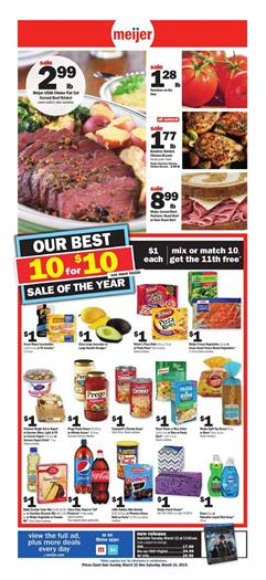 Meijer Weekly Ad Mix or Match Sale Mar 10 16 2019