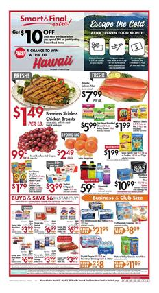 Smart and Final Weekly Ad Deals Mar 27 Apr 2 2019
