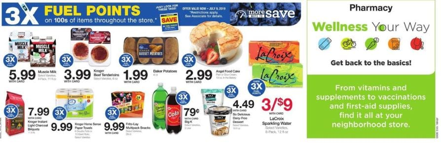 3x Fuel Points Kroger Weekly Ad Apr 24 30 2019
