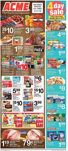 Acme Weekly Ad Grocery Sale Apr 5 11