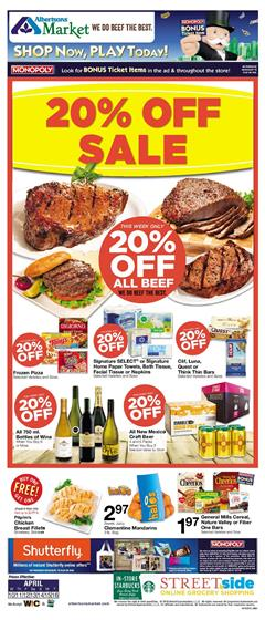 Albertsons Ad Grocery Sale Apr 10 16 2019