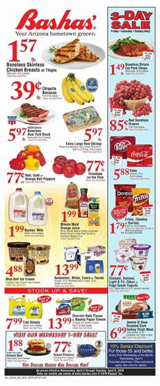 Bashas Ad Grocery Sale Arizona Apr 3