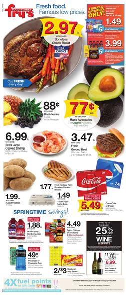 Frys Ad Mix and Match Sale and Easter Deals