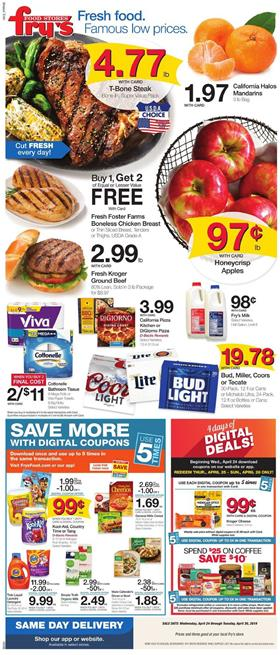 Frys Weekly Ad Digital Coupons Apr 24 30 2019