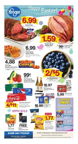 Kroger Weekly Ad Easter Sale Apr 17 23 2019