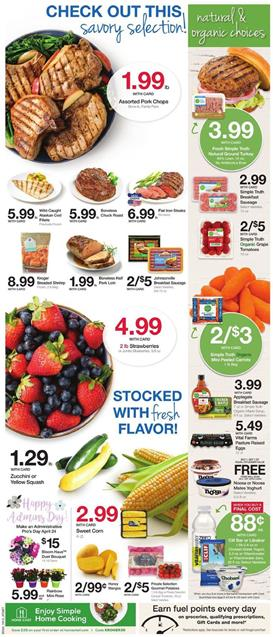 Kroger Weekly Ad Organic Foods Apr 24 30 2019