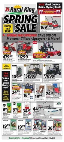 Rural King Ad Spring Sale Farm Power Tools April 2019