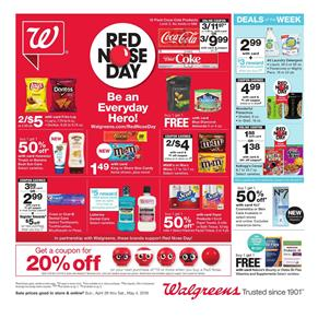 Walgreens Weekly Ad Red Nose Day Apr 28 May 4 2019