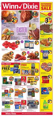 Winn Dixie Weekly Ad Easter Deals Apr 10