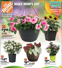 Home Depot Ad Mothers Day Sale May 2 12 2019