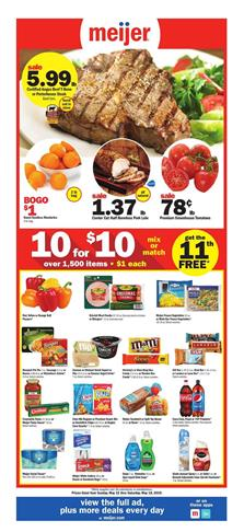 Meijer Weekly Ad Deals May 12 18 2019