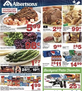 Albertsons Weekly Ad Fathers Day Deals Jun 12 18 2019